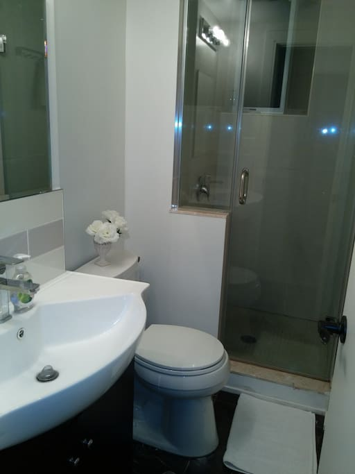 New full bath room shared with only one other room