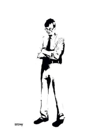 I love Street Art, this is by Stewy, a local artist - and this is Tony Wilson aka 'Mr Manchester'