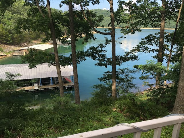View of lake from front porch