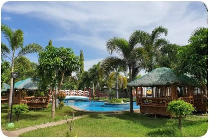 The best location with a nice pool and food