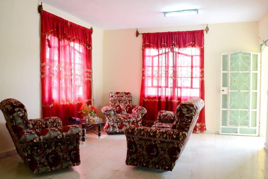 Sala de estar, Hostal Meury