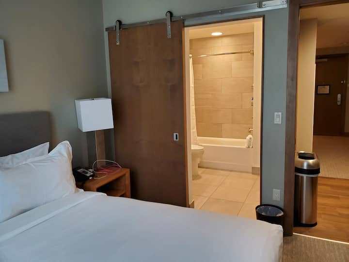 Ski in-ski out. With GREAT amenities and staff!!!