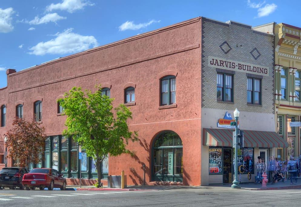 Durango Colorado vacation rental condo in Historic Jarvis Building on Main Avenue
