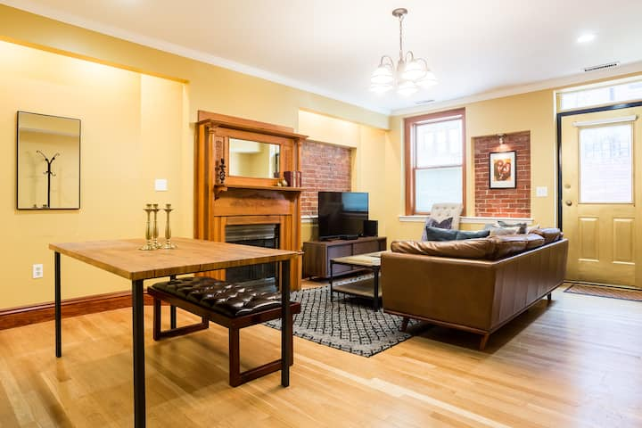 Luxury Back Bay Brownstone with Private Patio