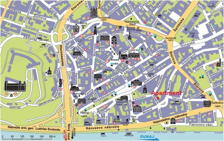 Best location to explore Bratislava sights