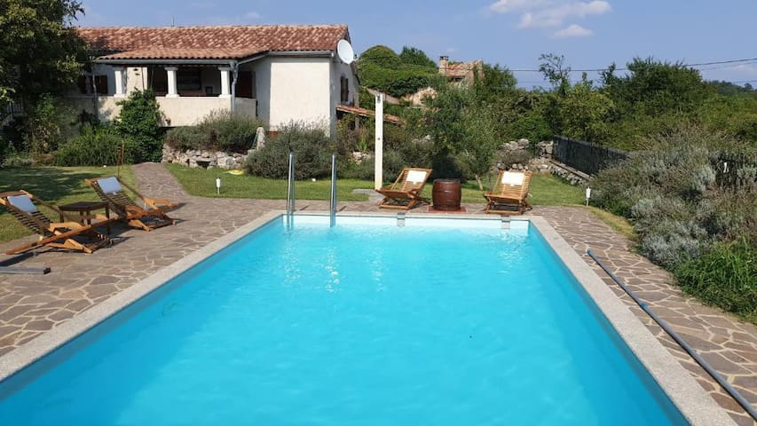 Guest House Risika with the pool, jacuzzi & sauna