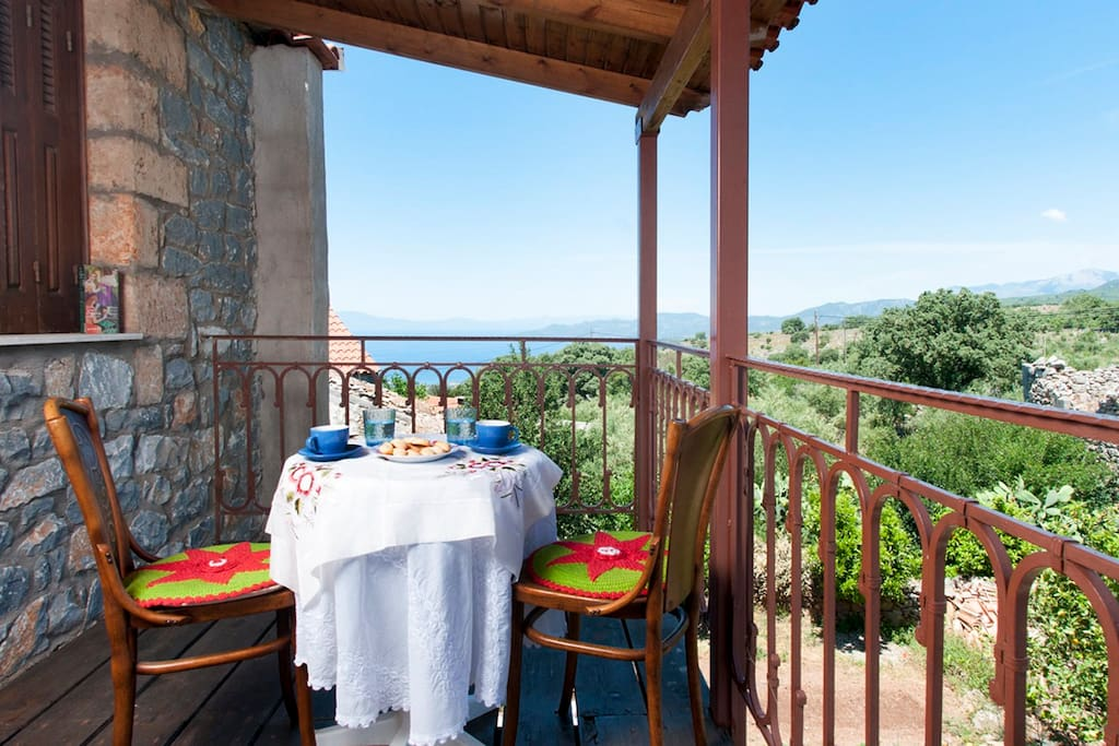 Relax and enjoy your coffee on the  second balcony