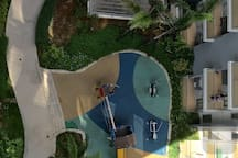 The view of kids playground from the balcony