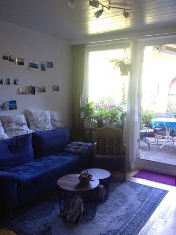 2-Zi.Whng mit ruhigem Balkongarten - Oy-Mittelberg - Apartemen
