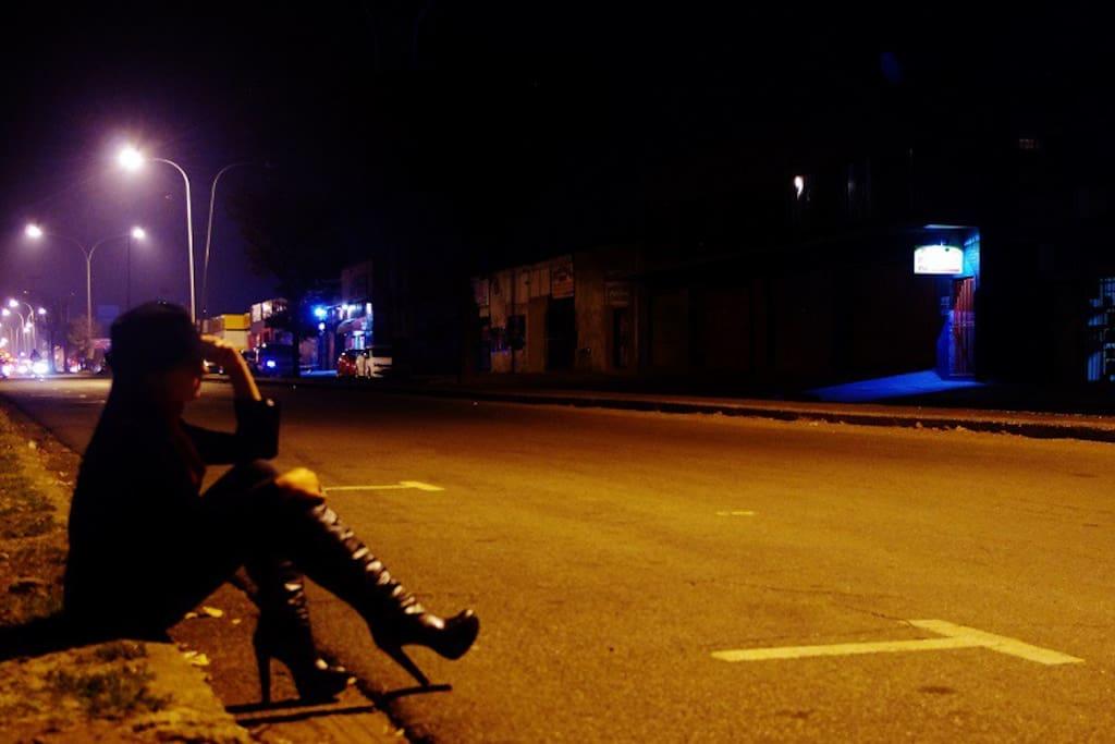 A typical night scene in Boksburg, Johannesburg.