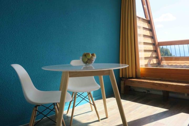 ARC 1600 Studio cosy Terrasse sud ouest