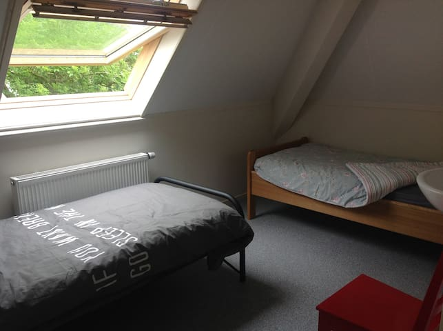 Room 2 beds, shared shower, new farm in Friesland!