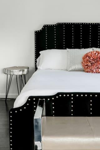 Super cozy green tea infused memory foam mattress for a deeper nights sleep
