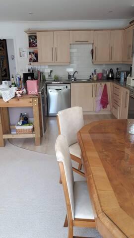 Open plan space for breakfast