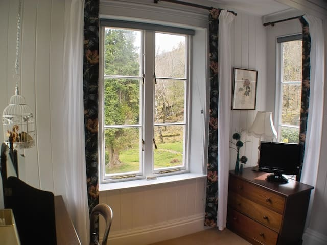View out onto the gardens from Mawddach's bay window
