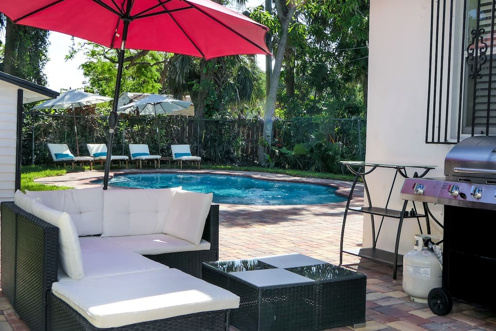 Spacious patio for relaxing and grilling