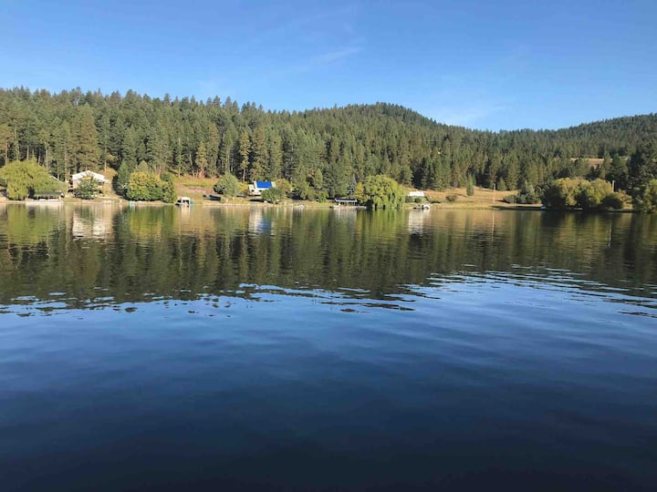 NEW LISTING! Unique log cabin on Flathead lake!