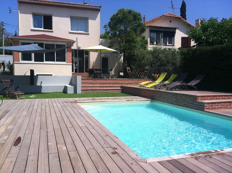 Belle maison avec piscine houses for rent in marseille for Piscine marseille