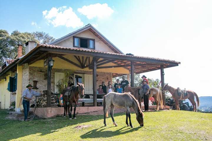 Casa de campo com vista linda