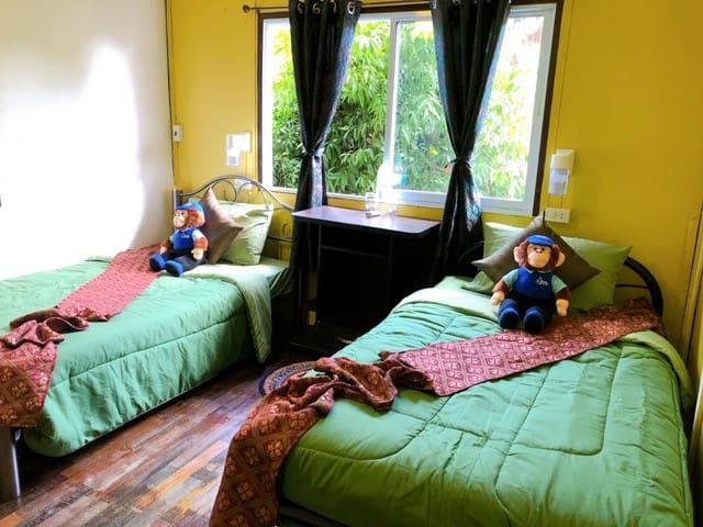 Monkey Bowls Twin Room