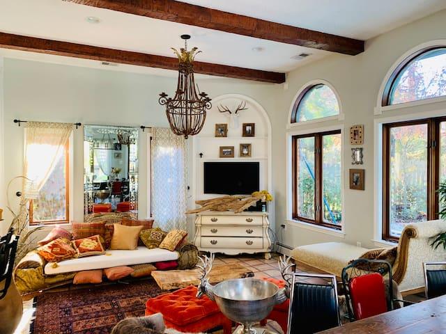 Morocco meets Italian villa with pool in Bethesda