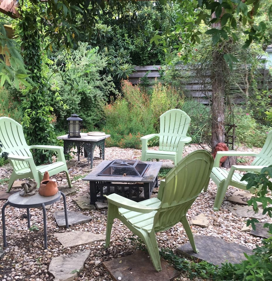 Beautifully landscaped backyard for relaxing and recharging.
