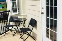 bistro set outside your door