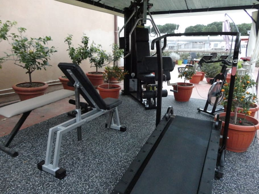 Area Fitness con attrezzi Technogym