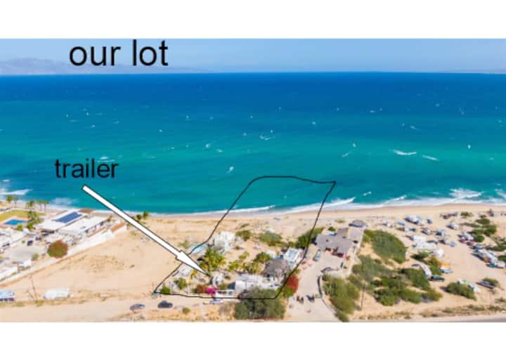 Beachfront trailer in prime location
