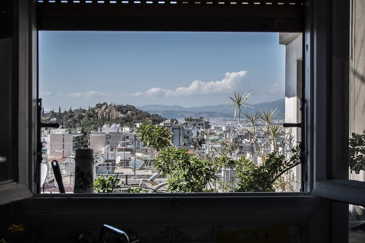 Central penthouse, amazing city & Lycabettus view - Athina - Appartement