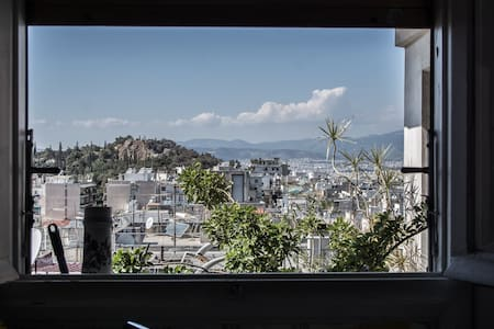 Central penthouse, amazing city & Lycabettus view - Athina - Daire