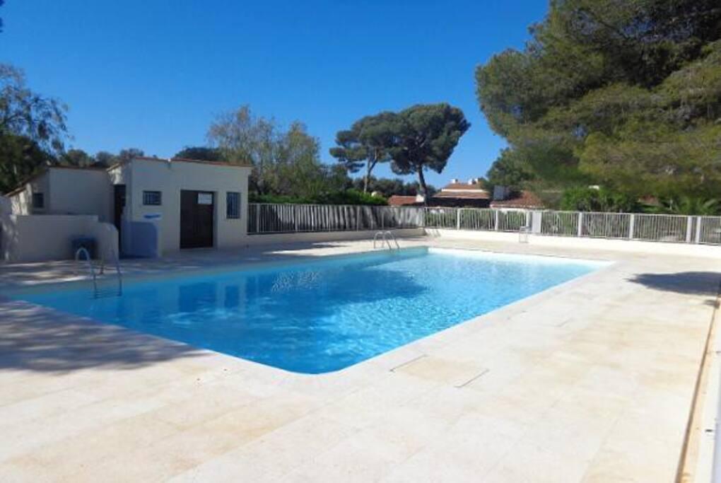 piscine commune a  la résidence