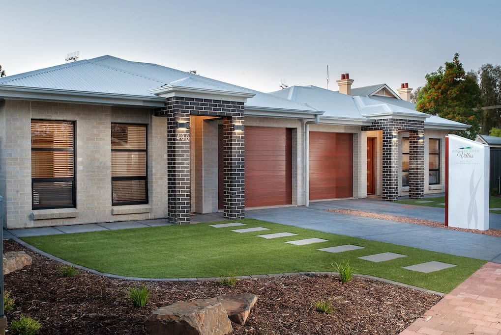 Outside of villa 48A and 48B James Ave, Renmark