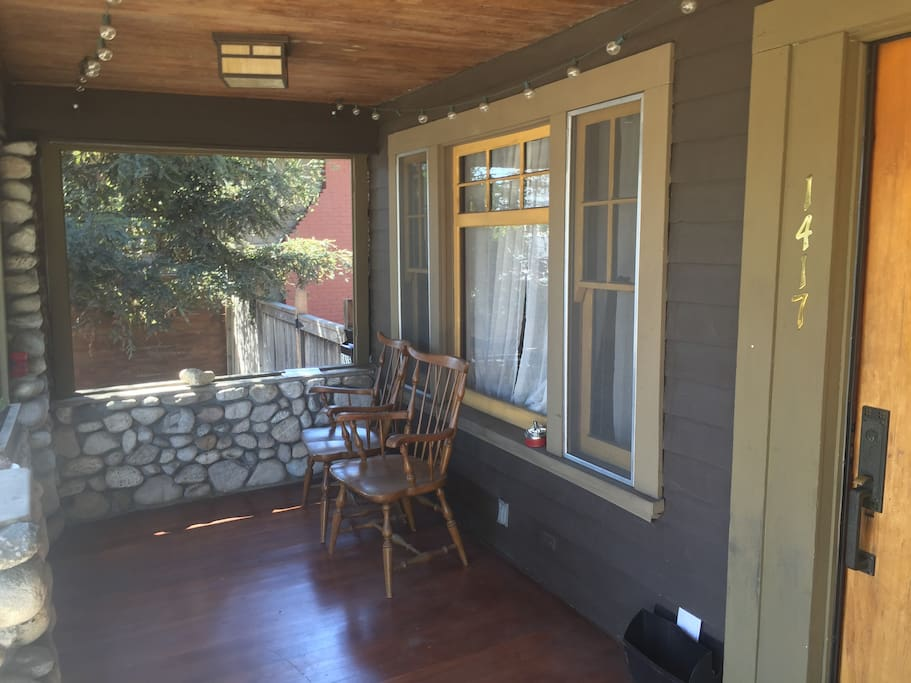 A lovely over-sized porch