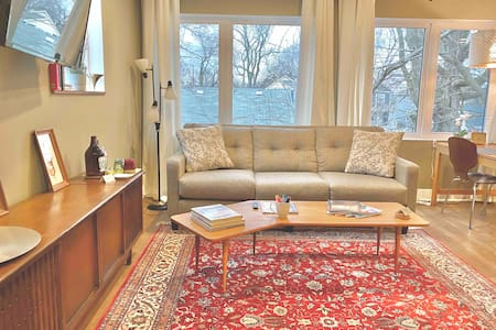 Clean & Comfy Vintage Mod Carriage House Downtown