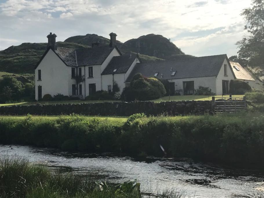 Dunadd Farm sits between the river and Dunadd Fort