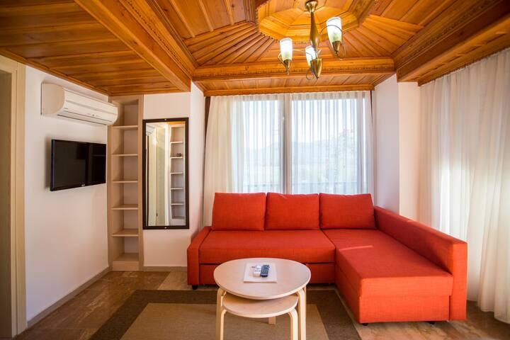 Studio Apartment with Balcony near Azmak River