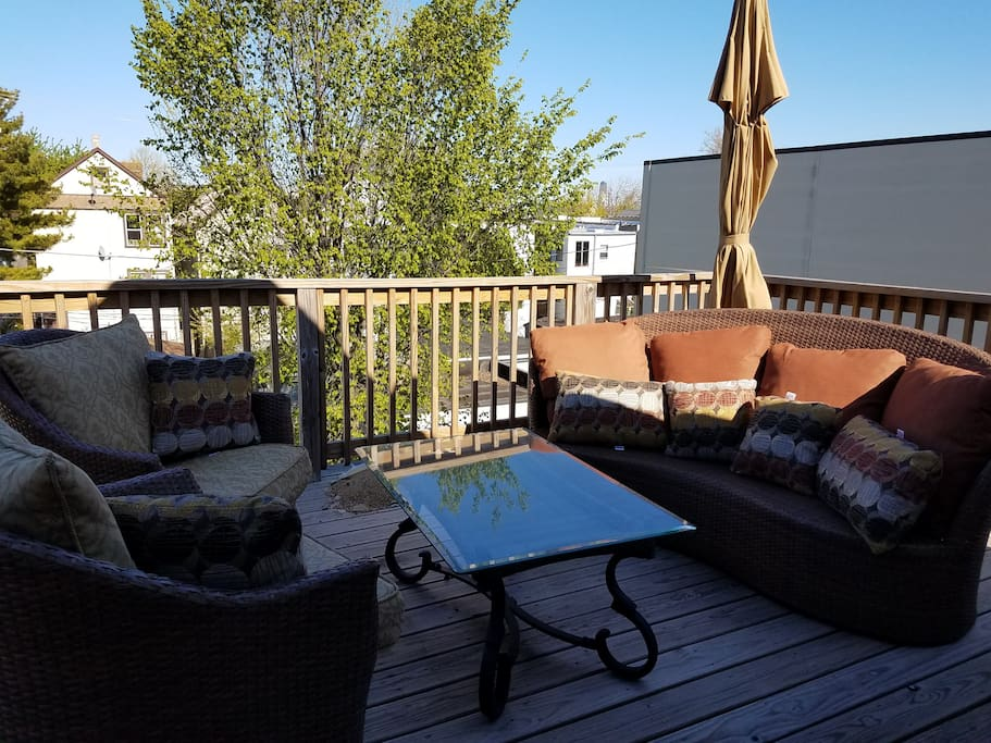 Walk out Deck on Roof.