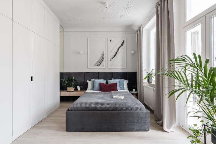 Piękny apartament z wanną i werandą w Sopocie