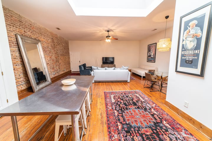 Vibrant Skylight Loft | 2BR/2BA | 10 Min to Base