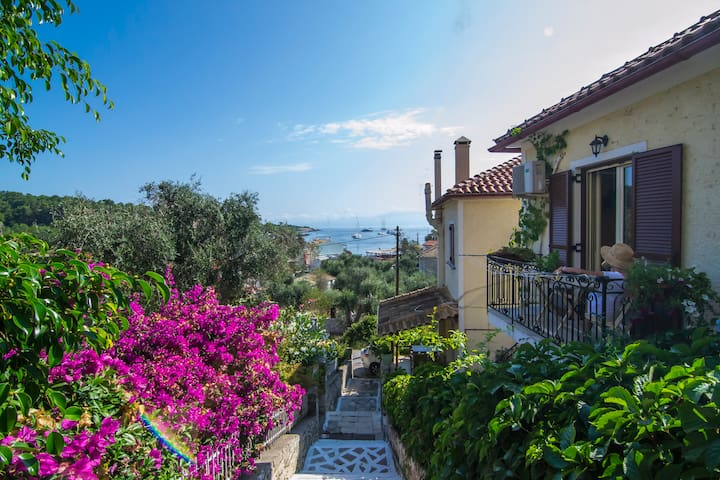 Romantic beautiful Studio with wonderful sea view - Gaios - Leilighet