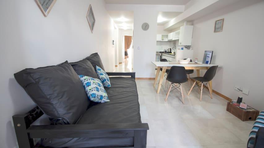 Apartamento completo✔A Metros del Mar✔Balcón✔WIFI