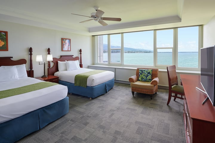 Maui Beach Hotel, Oceanfront Ste with 2 Queen Bds