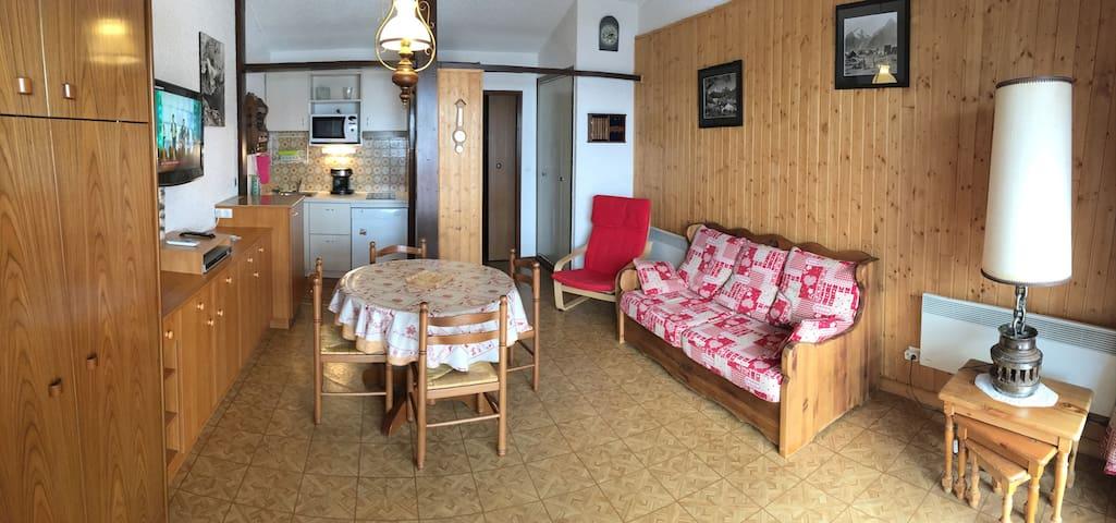 Studio chaleureux face aux pistes - Mont-de-Lans - Wohnung