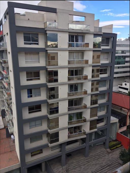 Foto exterior del edificio Torre Yacanto