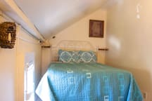 Welcome to the Bridge Street Inn.  Room 1 is located upstairs, has a queen bed with a shared bathroom.