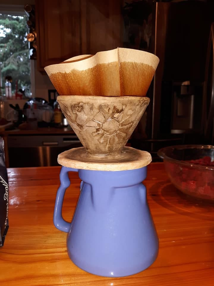 Fresh terra cotta drip coffee- self serve!
