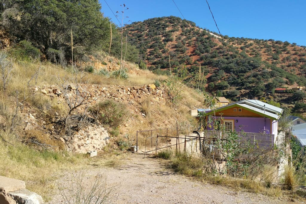 Private parking. Only four steps down to house (very rare for Old Bisbee)!