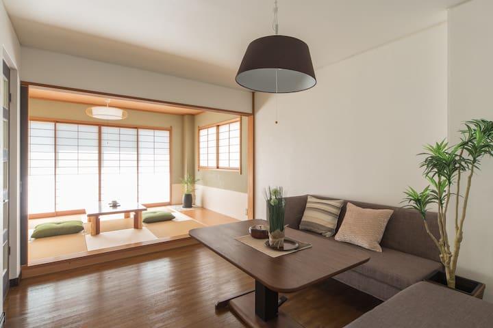 京都站旁 鸭川岸边  赏樱及夜瞰京都塔的日式民宿 - 京都 - 別荘