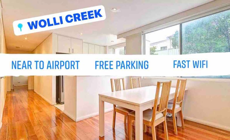 Great LOCATION! 2 BEDROOM/Free Parking/4 Guest